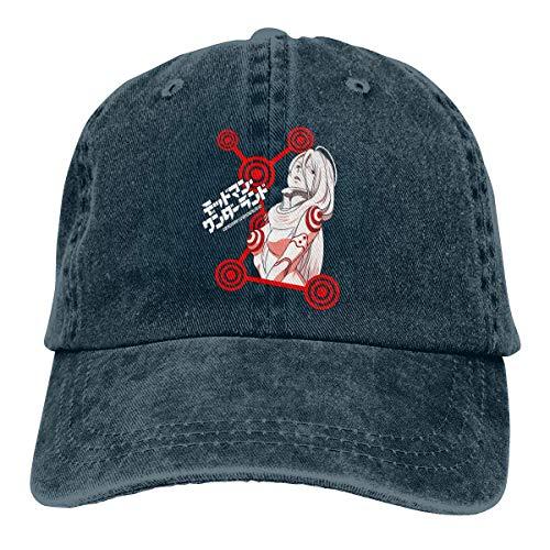 GOHEED Gorras de béisbol de Anime Deadman Wonderland Shiro para mujeres/hombres Reino Unido, gorra ajustable para papá