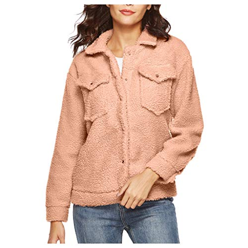 TOPSELDie Frauen Retro Knopf Bomberjacke beiläufiger Mantel Outwear