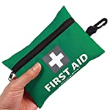 Mini First Aid Kit, 92 Pieces Small First Aid Kit - Includes Emergency Foil Blanket, Scissors for Travel, Home, Office, Vehicle, Camping, Workplace & Outdoor (Green)