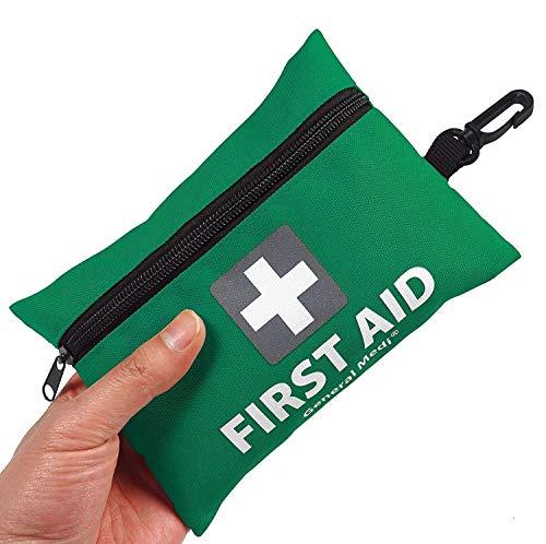 General Medi Erste Hilfe Set - 92-teiliges Premium Erste-Hilfe-Set für Haus, Auto, Reise, Büro, Sport, Outdoor, Wandern, Camping (Grün)