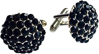 Clinks Cufflinks Mens Crystal Cluster Cufflinks - Black
