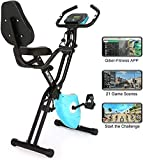 ANCHEER Exercise Bike stationary,2 in 1 Fitness Bike Indoor Foldable X-Bike with Sport
