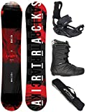 Airtracks Snowboard Set - Wide Board Eight 160 - Softbindung Master - Softboots Star Black 44 - SB Bag