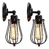 2 piezas Apliques de Vintage Adjustable Edison Metal Lampara Retro Lámpara Industrial de Pared luces para la Salon, Cocina, Desván, Restaurante, Cafe Decoración(Bombillas No Incluidas)