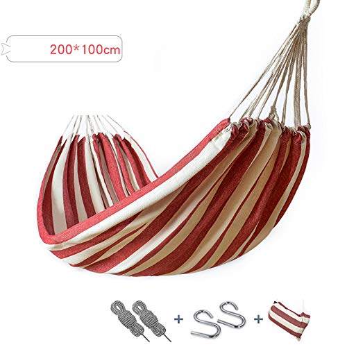 Hammock Outdoor Leisure Single And Double Hammock Thick Canvas Hammock Indoor Camping Swing Portable Hammock – Perfect For Camping