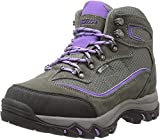 Hi-Tec Women's Skamania Mid Waterproof Hiking Boot, Grey/Viola,9 M US