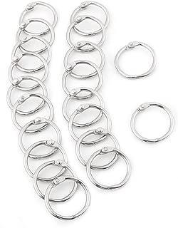 Antner 100 Pack Loose Leaf Book Rings Silver 35mm//1.38inch Metal Binder Rings