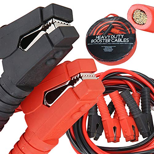 Voilamart Auto Jumper Cables 2/0 Gauge 3000AMP 20Ft w/Carry Bag, Instruction Slip, Commercial Grade...