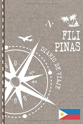 Filipinas Diario de Viaje: Libro de Registro de Viajes - Cuaderno de Recuerdos de Actividades en Vacaciones para Escribir, Dibujar - Cuadrícula de Puntos, Bucket List, Dotted Notebook Journal A5