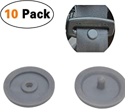 YILUSHUN Seat Belt Stop Button,Prevent Belt Buckle from Sliding Down The Belt,Universal Removable Without Welding(10 Sets Gray)