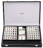 Jaques of London Ensemble Mah Jongg - Jeux Traditionnels Ensemble Club Mahjong avec étui de présentation Noir - Jeux familiaux Depuis 1795