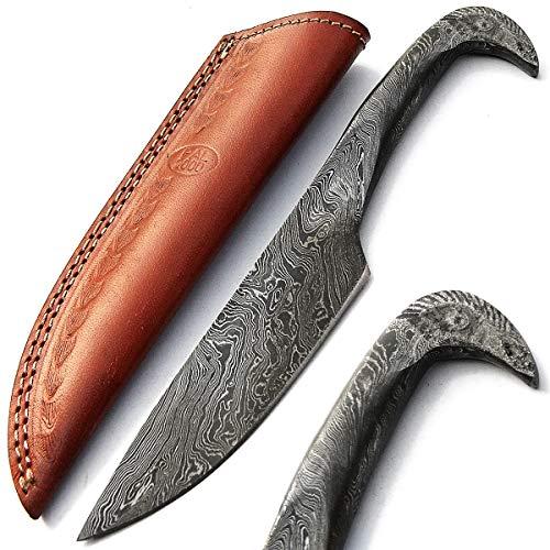 PAL 2000 - Cuchillo Hecho a Mano Personalizado, Hoja de Acero Damasco con Funda de Piel, Cuchillo de Chef de Mano, Cuchillo Forjado a Mano 9379