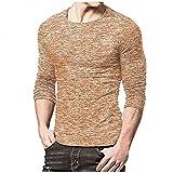 Camiseta para hombre, de secado rápido, larga, estrecha, deportiva, de secado rápido, marrón, XL