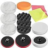TecTake Set de Pulido de 13 Piezas con esponjas para máquina de pulidora pulir Limpieza