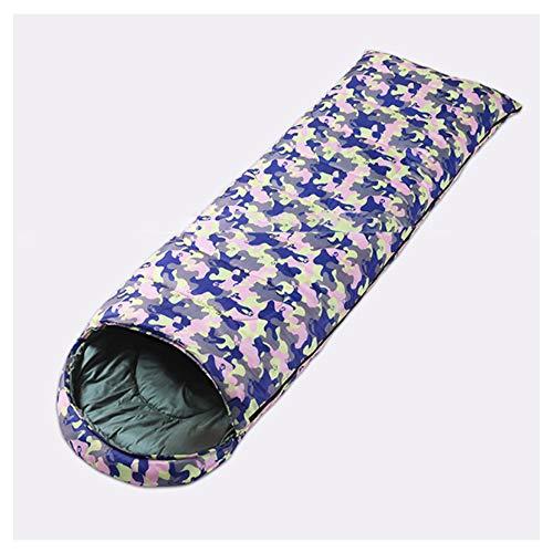 LEEPY Outdoor Camping Camouflage Schlafsack Tragbare Verdickung wasserdichte warme Schlafsack für Erwachsene Jugendliche Reiseausrüstung,Pink