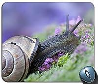 動物昆虫カタツムリ1パーソナライズされた長方形のマウスパッド、印刷された滑り止めゴム快適なカスタマイズされたコンピューターマウスパッドマウスマットマウスパッド