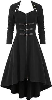 Gotiche Signore Vestito Steampunk Chiffon Abito Estivo Abito Abito Taglie Comode Da Spalla Lunghezza Manicotto Irregolare Abiti Medievali Costume Vittoriano Magia Padrona Costume Da Strega Del