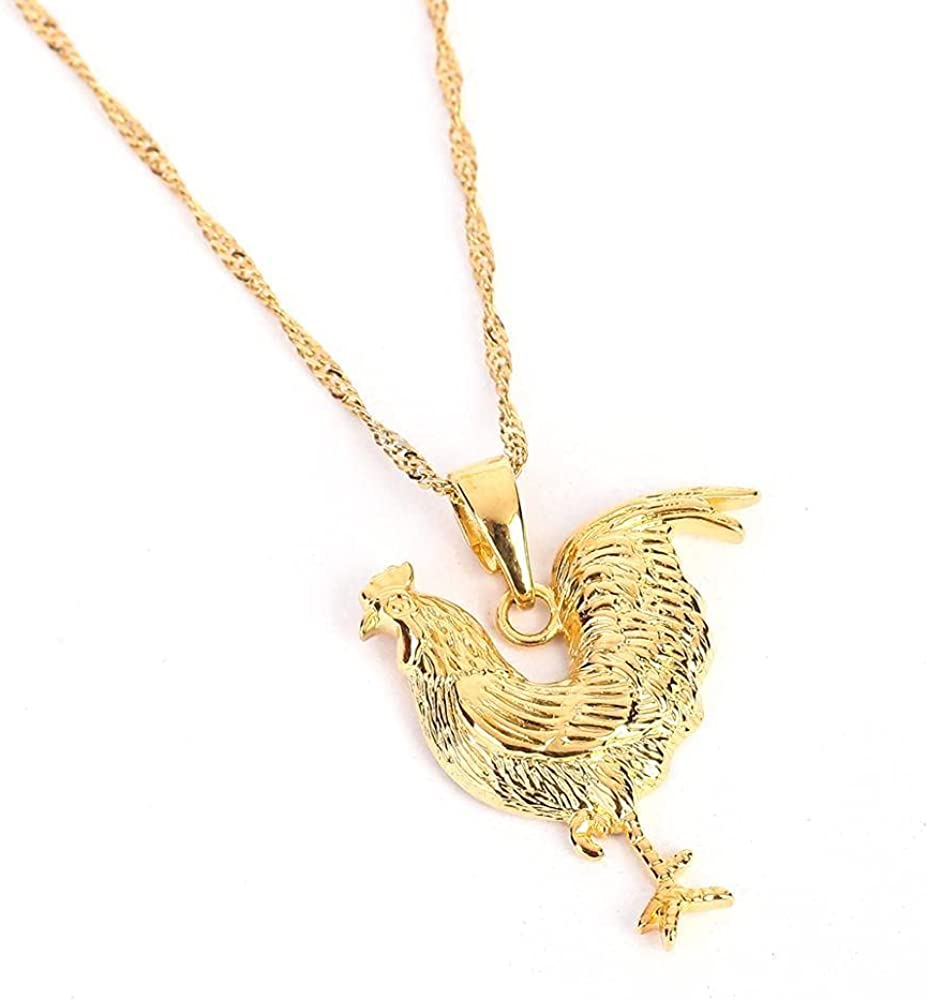 Fashion Women Jewelry Gold Color Chicken Pendant Necklace Trendy Animal Jewelry
