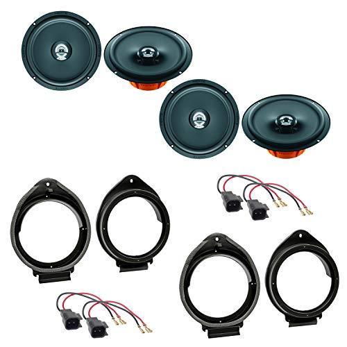 Lautsprecher Einbauset kompatibel mit Opel Insignia A Meriva B vorne und hinten Hertz Dieci DCX 165.3 2 Wege Koaxial Lautsprecher