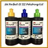 3M–Perfect-it III Triple Polieren & auf Set Kit 3x 250g