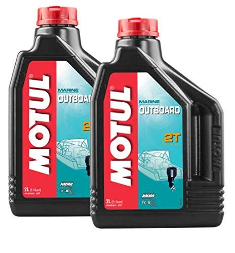 MOTUL Lubricantes para Motor 2 Tiempos Fuera Borda Mineral Outboard 2T, Pack 4 litros