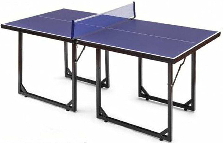 Mesa de Ping Pong Mesa De Tenis De Mesa Pequeña para Interiores, Juego De Entrenamiento De Tenis De Mesa Plegable para Niños, 153 Cm X 76,5 Cm X 76 Cm