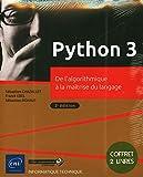 Python 3 - Coffret de 2 livres - De l'algorithmique à la maîtrise du langage (3e édition) - Eni Editions - 17/08/2020