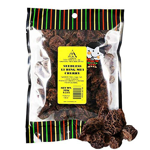 Asia Trans Seedless Li Hing Mui Cherry | Hawaiian Favorite | Naturally Sweet Dried Fruit Candy with Asian Plum Powder