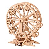 STOBOK Kit de Construcción de Noria de Madera DIY 3D Modelo de Rueda de Ferris Rompecabezas de Construcción Modelo Ornamento Juguetes Educativos Escritorio Decorativo