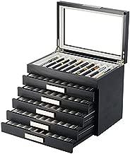 60 Pen Wood Display Case Holder Storage Collector Organizer Box 314060