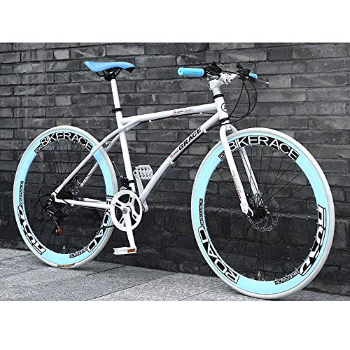 LWJPP 2020 Nueva Bicicleta de montaña 26 Pulgadas Marco de 24 velocidades sólo for Adultos Acero de Alto Carbono Camino de la Bicicleta de Carreras for Hombres y Mujeres