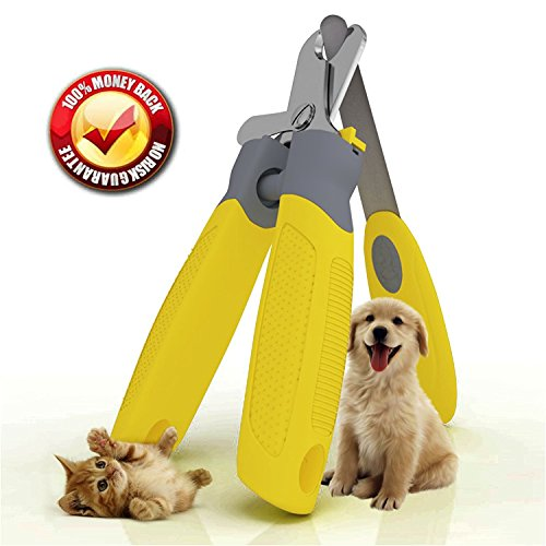 "Trim-Pet Dog Nail Clippers ~ Professional Vet Quality ~ Razor Sharp Stainless Steel Blades With Safety Guard ~ Ergonomic Designed Handles For Easy Precise Cutting ~ Groom Small, Medium Or Large Dogs And Cats ~ Nail Trimmers Designed By Veterinarians ~ Trim Animal Nails With Total Confidence (FREE Bonus Nail And Claw File) 'Healthy Pet Grooming"" LIFETIME Money Back Guarantee!"