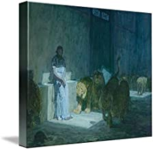Wall Art Print Entitled Henry Ossawa Tanner, Daniel in The Lions' Den by Celestial Images | 10 x 8
