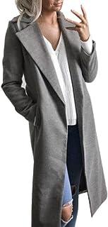 Winter Cardigan Womens Long Coat Lapel Parka Jacket Overcoat Outwear by