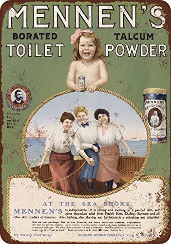 Kilburn 1905 Poudre de Toilette pour Homme Borated Talc rétro créatif décoration Murale personnalité Tendance Fond Simple Style Fer Peinture