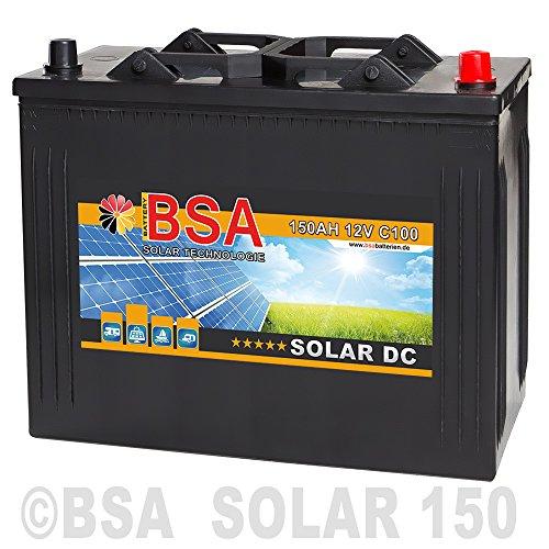 Preisvergleich Produktbild BSA Solarbatterie 12V 150Ah Wohnmobil Versorgungsbatterie Solar Boot Batterie 140AH 130Ah