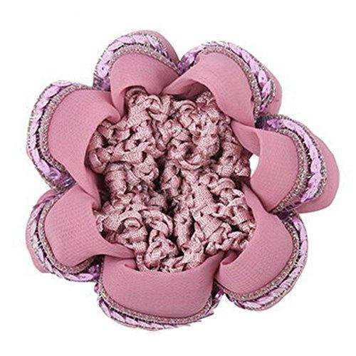 Set Of 4 Ladies Mesh élastique Bun Rose Couverture Cheveux Nets Cheveux Snood
