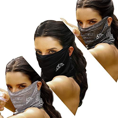ARRUSA Cubierta de cara fresca de verano, polaina para el cuello, protección contra el polvo y los rayos UV, bufanda transpirable para hombres y mujeres deportes al aire libre - - Medium