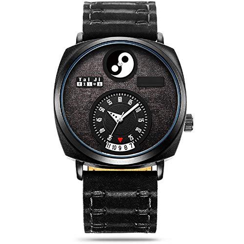 REIUYTHO Relojes mecánicos for los hombres del cronógrafo de acero inoxidable resistente al agua Fecha de cuarzo analógico de visita de moda de los relojes de pulsera for hombres minimalista correa de