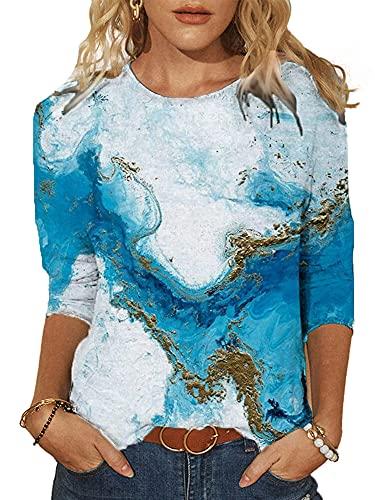 DELIMALI Suéter casual de las mujeres, medias medias medias medias medias mangas cuello redondo prendas de punto
