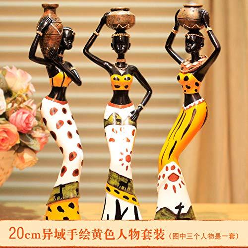 ZSPXIN Afrika Menselijke Figuren,Beelden Sculptuur Decor Voor Tafel Top Meubelen Ambachten Home Decoration Office Ornament