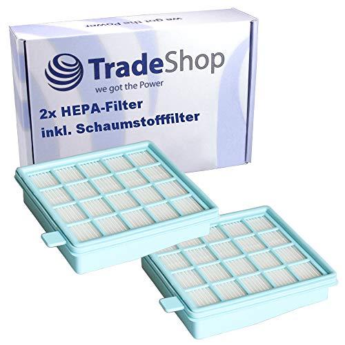 Lot de 2 filtres HEPA pour aspirateur Philips PowerProCompact FC8474/01 FC8477/91 FC9324/09 PowerProActive FC8631/71 FC8634/11 FC8631/61 FC8631/01 FC8634/01