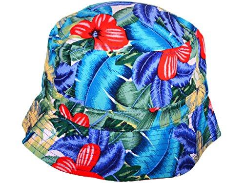 BOB KBETHOS - Motif Floral - Bleu