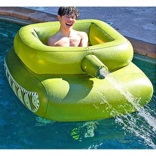Vercico Flotadores de piscina gigante inflable juguete para niños adultos piscina fiesta verano chorro de agua con pistola de chorro