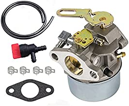 HIFROM Carburetor With Fuel Line Shut Off Valve for Tecumseh HSK40 HSK50 HS50 LH195SP Snowblowers Replace 632107 632107A 640084A 640084B