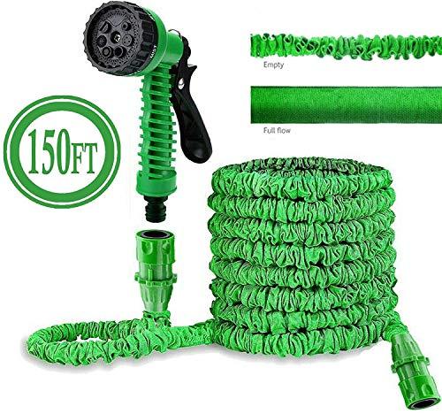 Tubes Tuinslang Leidingen Waterslangen Expandable Expanding Hosepipe Extension Long Lichtgewicht Met Spuitpistool 7-Pattern Nozzle Flexibele Easy To Storage Green MUMUJIN (Size : 45M)
