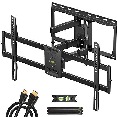 TV Wandhalterung Schwenkbar Neigbar für 47-84 Zoll max.VESA 600x400mm für LED/LCD/Plasma Fernseher,TV Halterung aufhaengung mit Ausziehbar Ultrastarker Doppelarm bis zu 60kg
