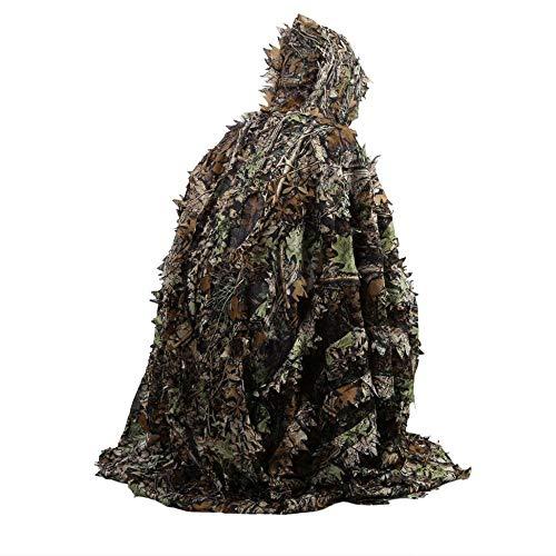Newgreeny Poncho mit Blatt, 3D, Camouflage, verführerisches Outfit