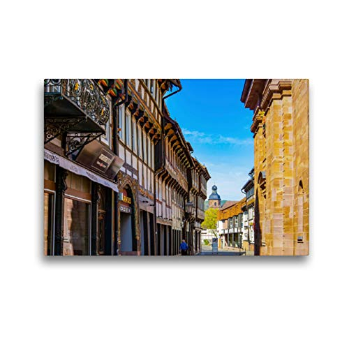 Premium Textil-Leinwand 45 x 30 cm Quer-Format Einbeck Impressionen | Wandbild, HD-Bild auf Keilrahmen, Fertigbild auf hochwertigem Vlies, Leinwanddruck von Dirk Meutzner