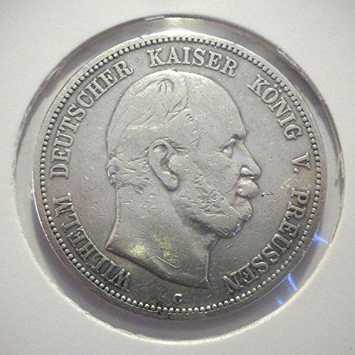 Münze Orig. Silbermünze 5 Mark 1876 C Preußen Wilhelm I - Jäger Nr. 97 Deutsches Reich / Kaiserreich